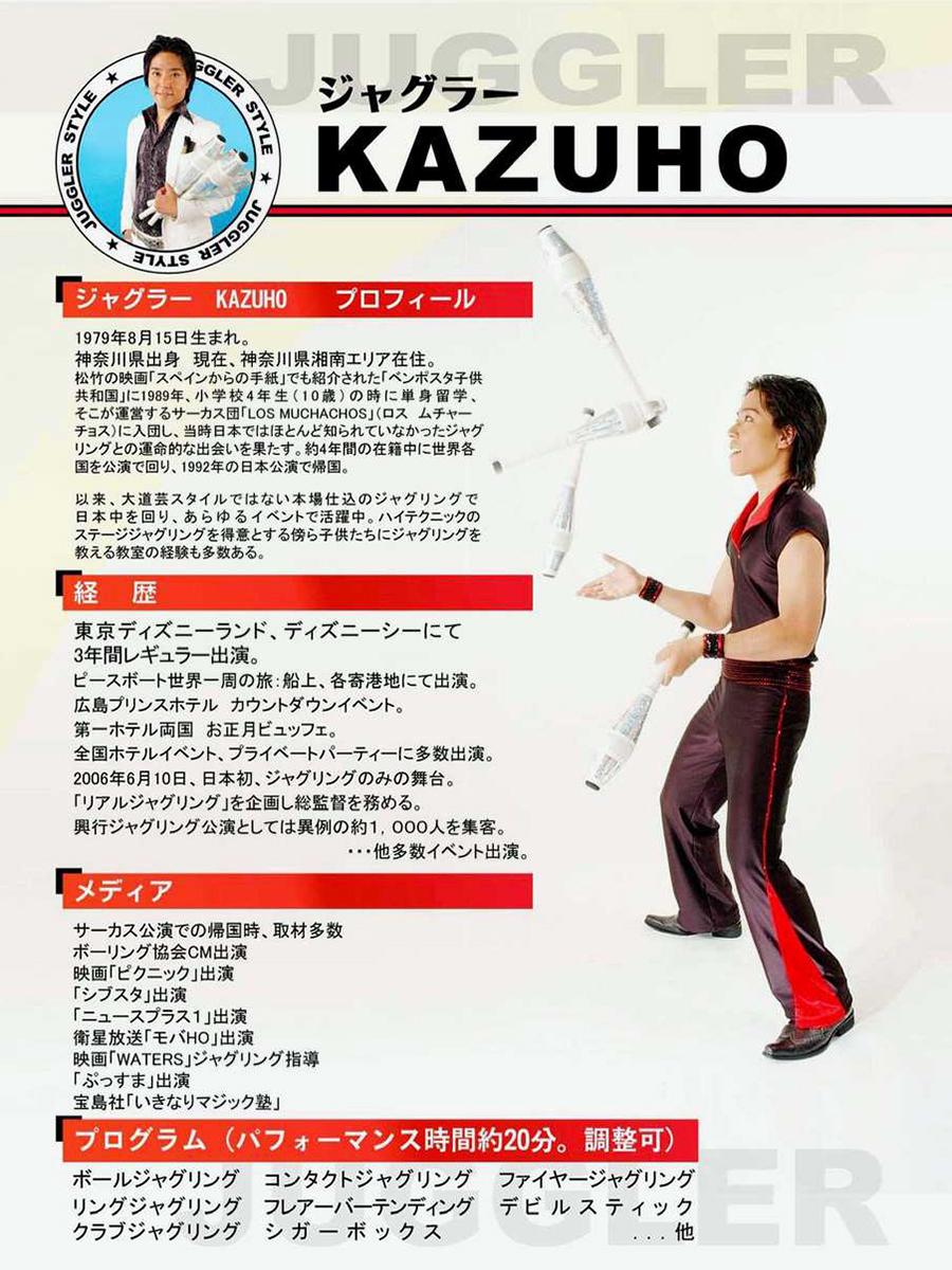 KAZUHO(ジャグラー&フレアバーテンダー)
